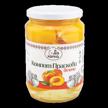 Da Hapna compote peeled peaches 720 g